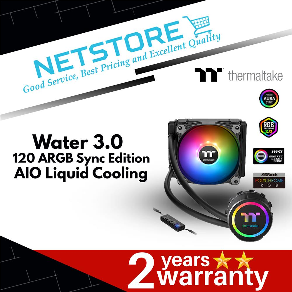 Thermaltake Water 3 0 120 ARGB Sync Edition AIO Liquid Cooling