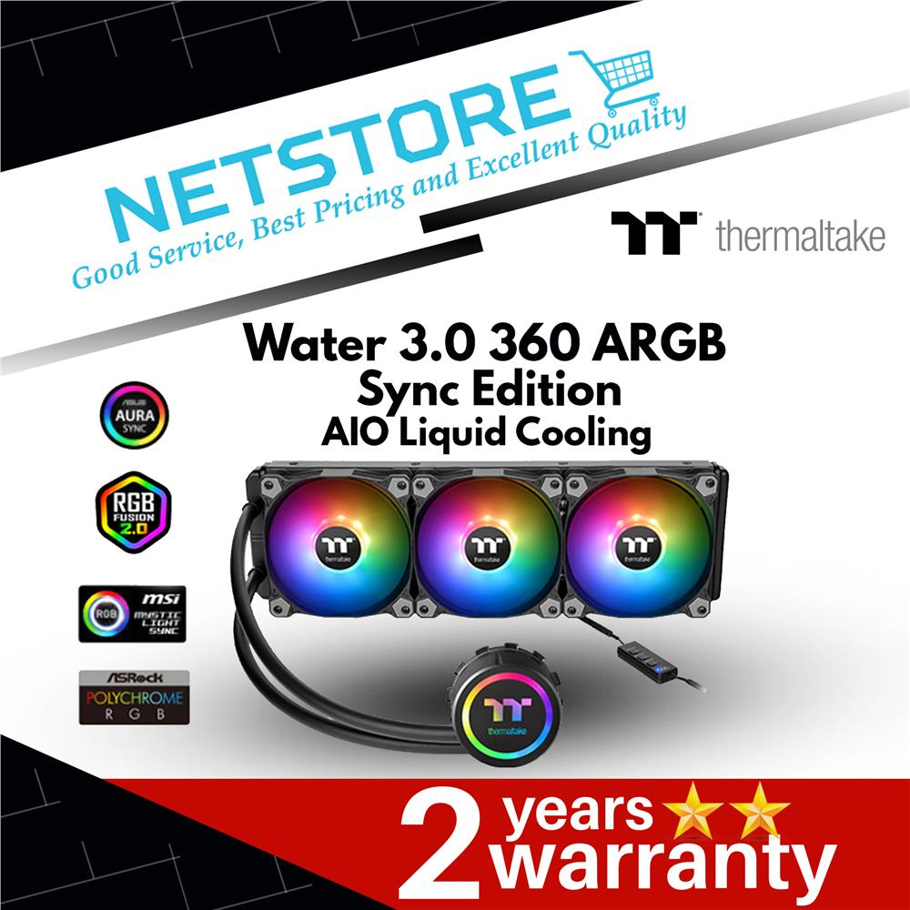 Thermaltake Water 3 0 360 ARGB Sync Edition AIO Liquid Cooling