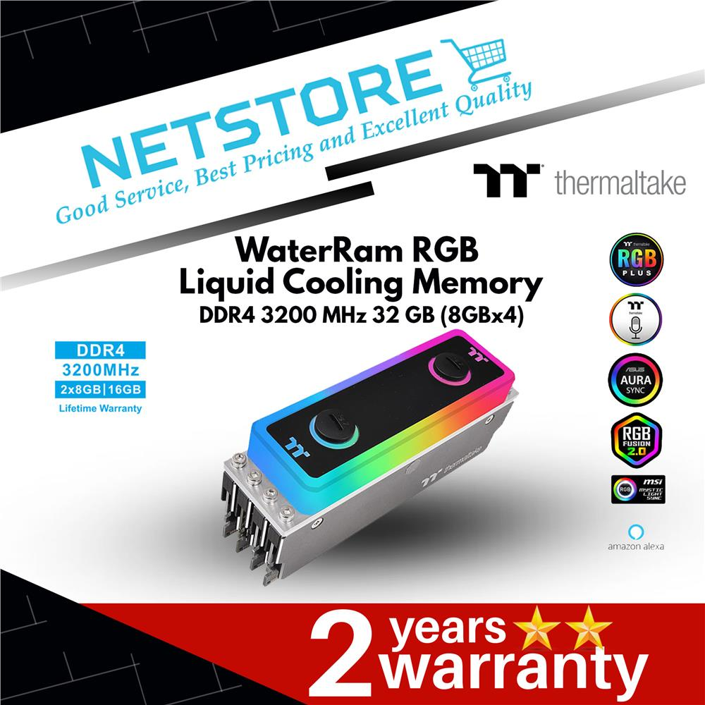 Best Ddr4 Ram 2020.Thermaltake Waterram Rgb Liquid Cooling Memory Ddr4 3200mhz 32gb 8x4