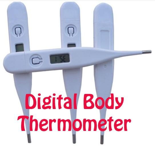 THERMOMETER Home Adult Baby Body LCD Display Fever Measure Temperature