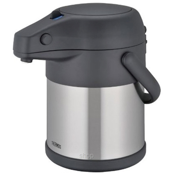 Thermos 3.00L Unbreakable Stainless Steel Black Pump Pot - TAH-3000-SBK