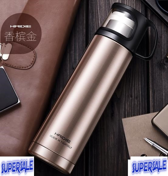 Thermos Colorful Stainless Steel 500ml Transparent Cup *Free gift