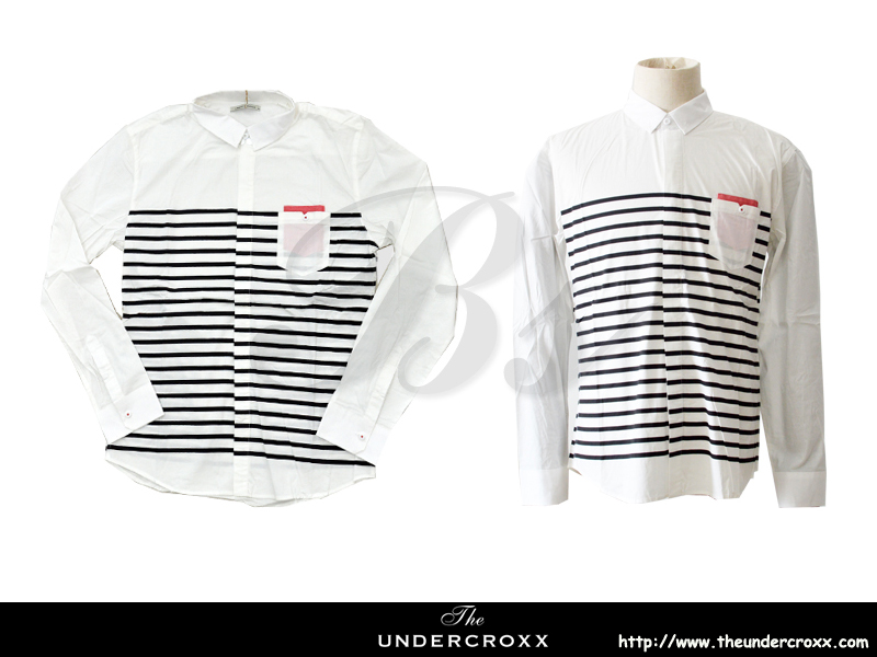 TheUndercroxx 6038L x Black Stripe White Shirt (NEW)