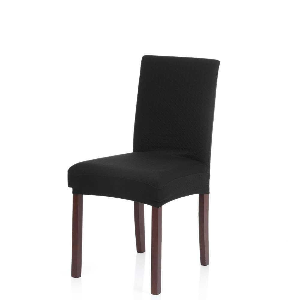Thick Knit Stretch Removable Washable Dining Chair Cover Polyester Spandex Sea