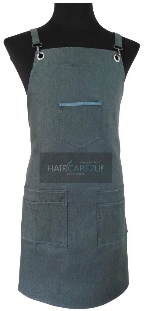 Thick Sleeveless Korean Style Denim Jeans Apron for Barber & Gardener