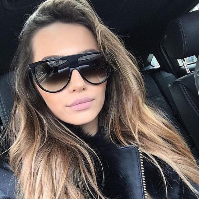 2fd1ab3940 Thin Shadow Flat Top Sunglasses (end 12 4 2020 12 51 PM)