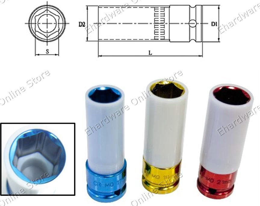 Thin Wall Wheel Nut Protector Deep Socket (3304OS) (Open Stock)