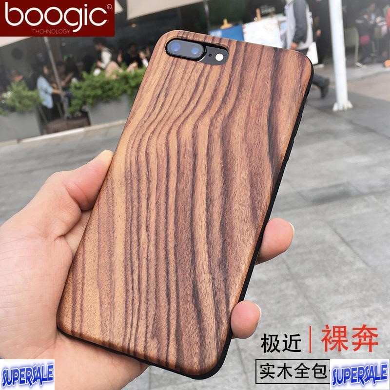 Thin Wood Hybrid Casing Case Cover for iPhone 7 / 7 Plus
