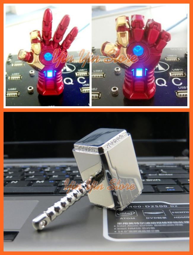 Thor Hammer,Ironman Hand 16GB USB Flash Drive/Pendrive/Thumbdrive