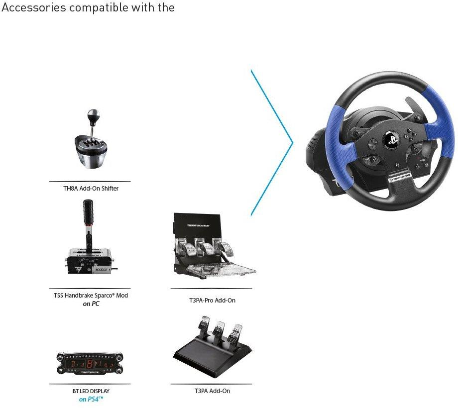 Thrustmaster T150 Pro Force Feedback Racing Wheel for PS4, PS3, PC