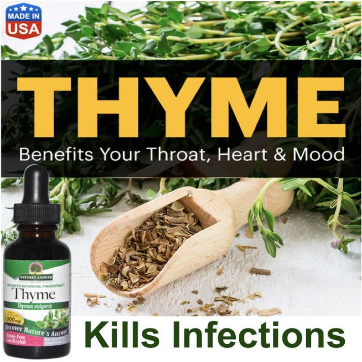 Thyme 1000mg 30ml, Bacteria, Infections, Skin Health, Mood, Cancer