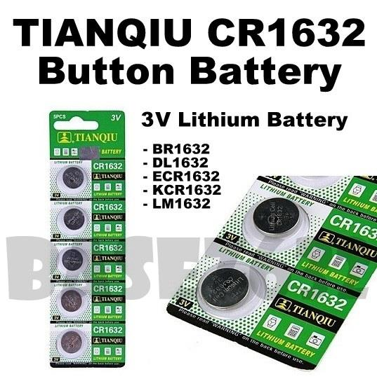TIANQIU  CR1632 3V Lithium Button Cell Battery BR1632 DL1632 ECR1632