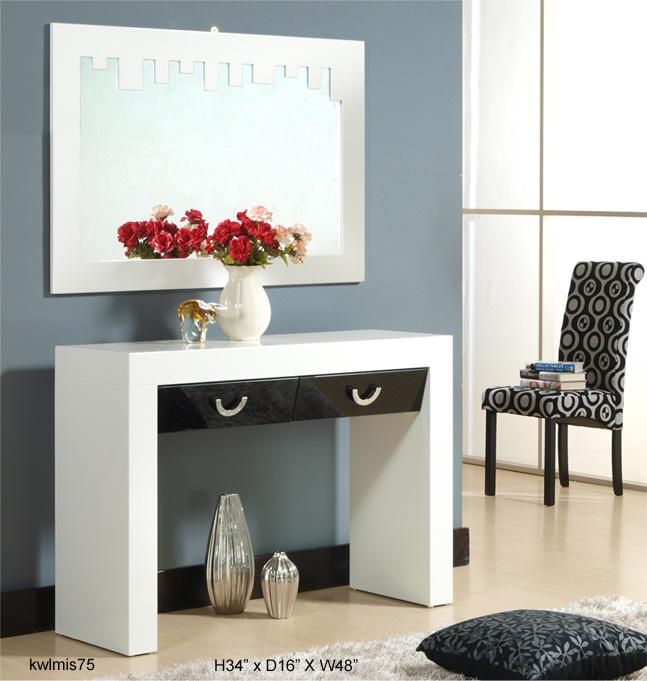 Deviant White Console Table Source · Tiara White And Black Console Table  End 11 27 2015 7 31 PM