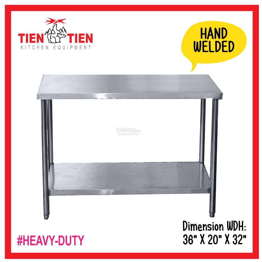 TIEN TIEN Stainless Steel Tier Wor End PM - 5 ft stainless steel table