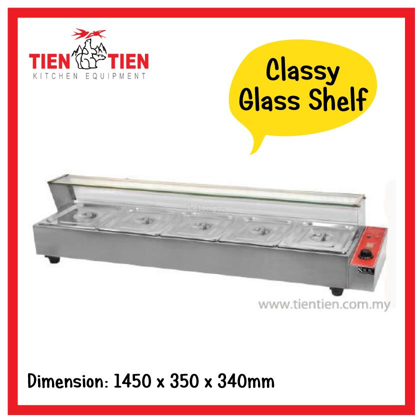 TIEN TIEN Stainless Steel Table Top End AM - 5 ft stainless steel table