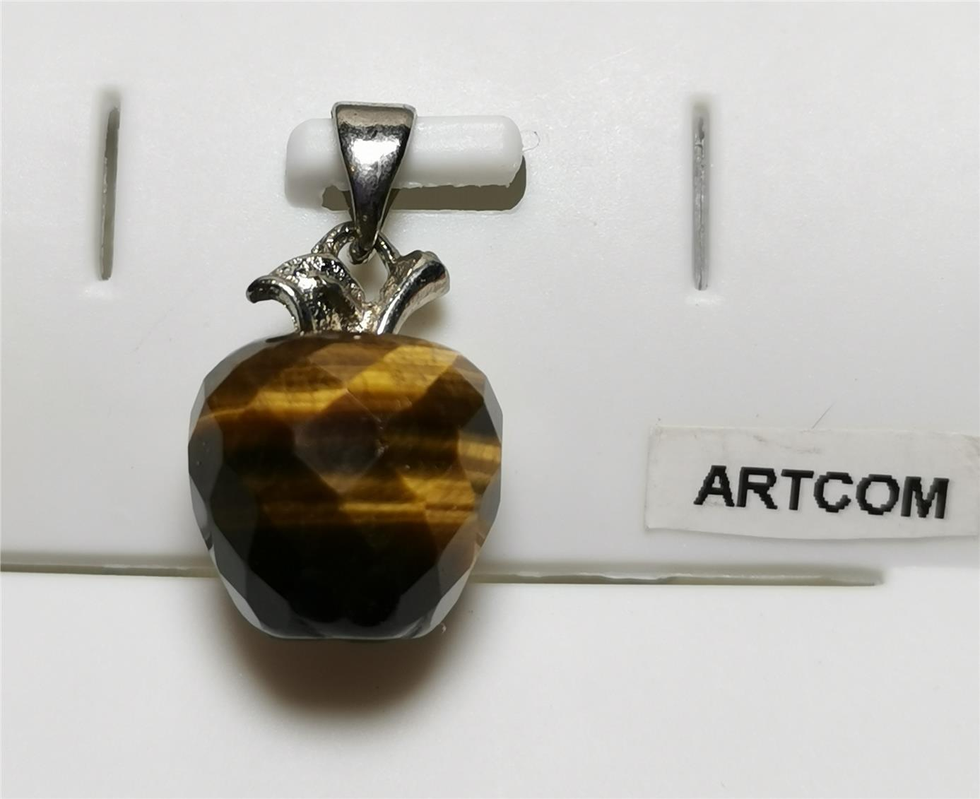 Tiger Eye Faceted Apple Pendant (12mm)