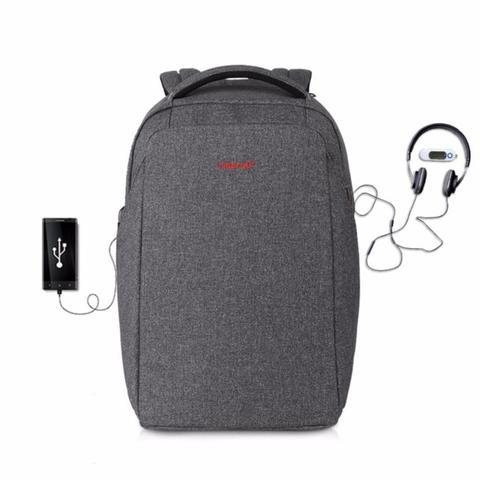 "TIGERNU ANTI-THEFT 15.6"" LAPTOP BACKPACK 3237 - BLACK GREY"