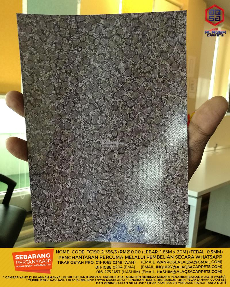 Tikar Getah Murah TG190 Aqsa floors (1.83M x 20M Roll) 0.5mm