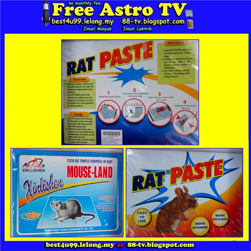 Tikus Mouse Rat Glue Trap Tray Paper Board Pest Catches Catcher Killer