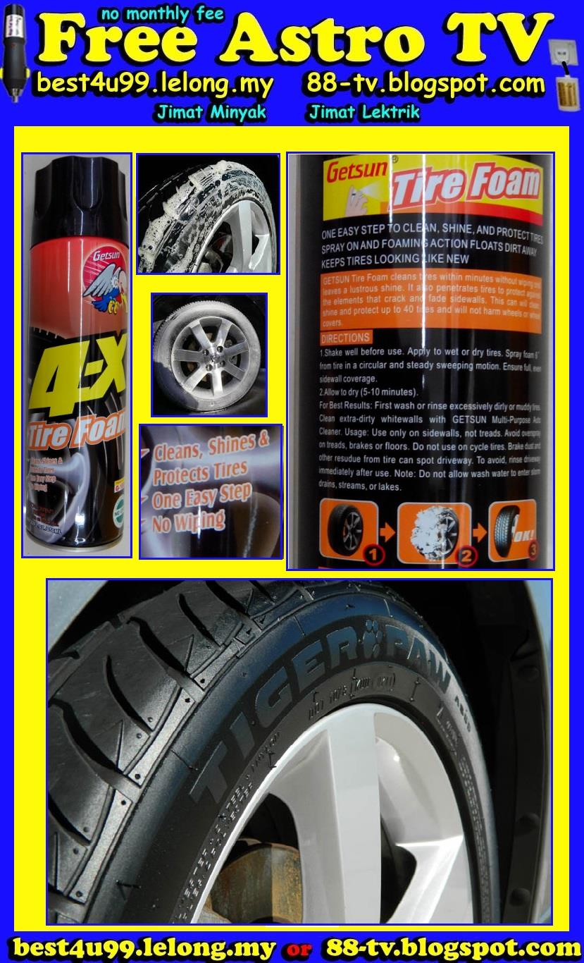 Tile Foam Busa Tayar Spray Clean Shine Protect Tire Dashboard Polish $