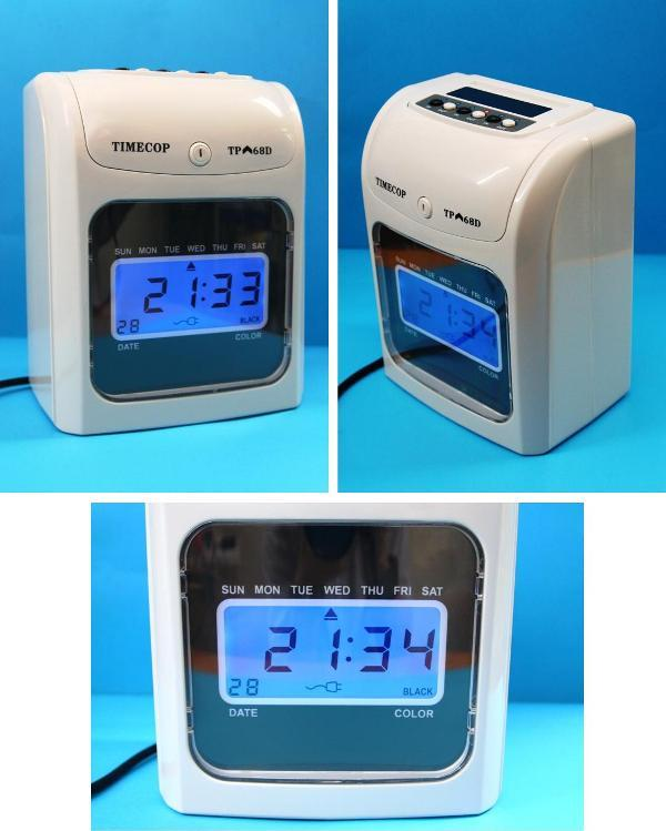 TIMECOP Time Recorder Punch Card Machine Digital Display