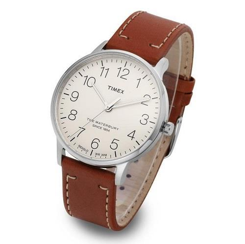 TIMEX Classic Waterbury Brown Leather TW2R25600 Mens Watch