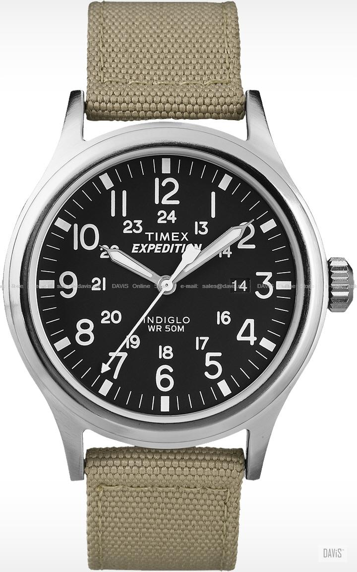 TIMEX T49962 (M) Expedition Scout date nylon strap black sand