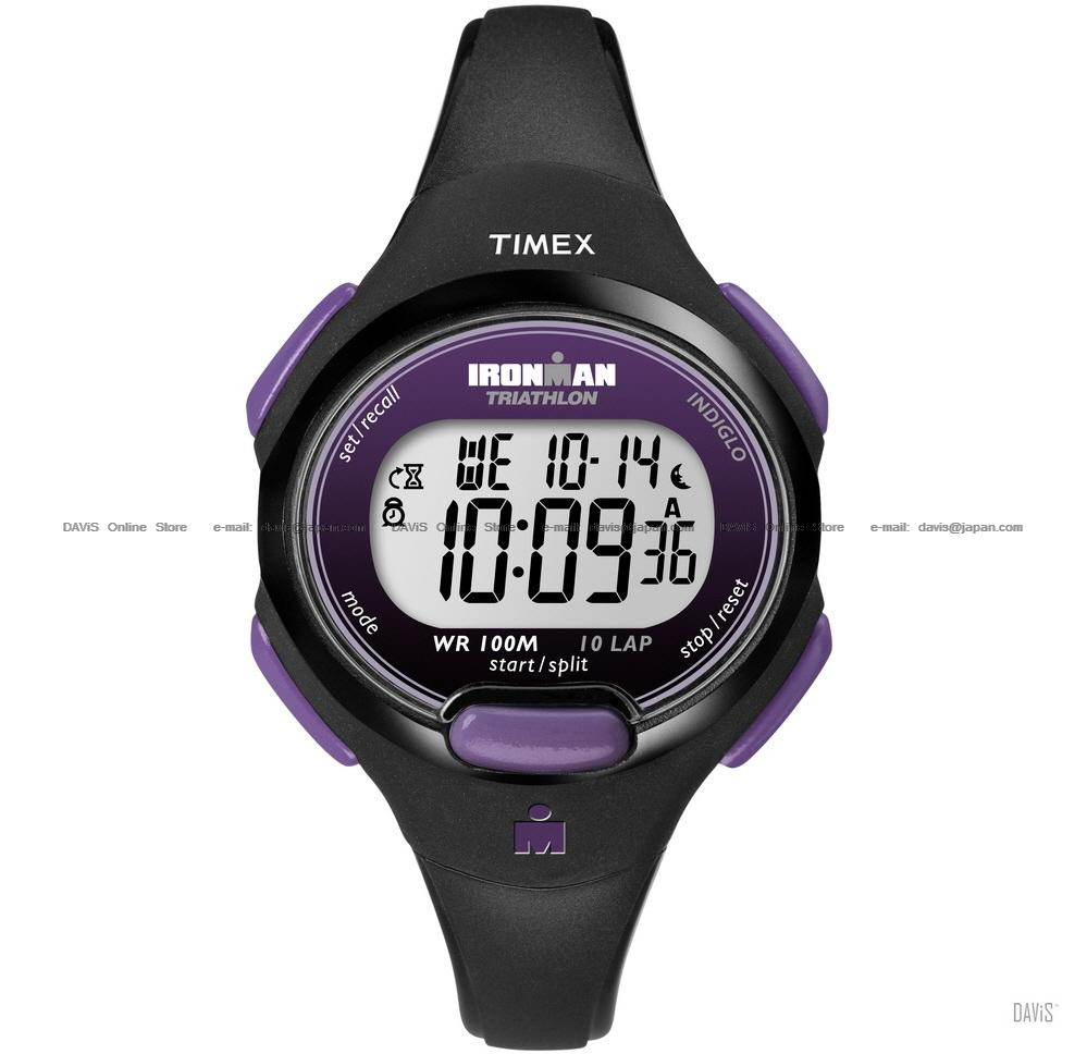 TIMEX T5K523 (W) IRONMAN Triathlon 10-Lap resin strap purple