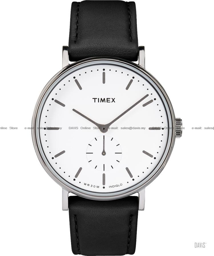 TIMEX TW2R38000 (M) Fairfield Sub-Second leather strap black