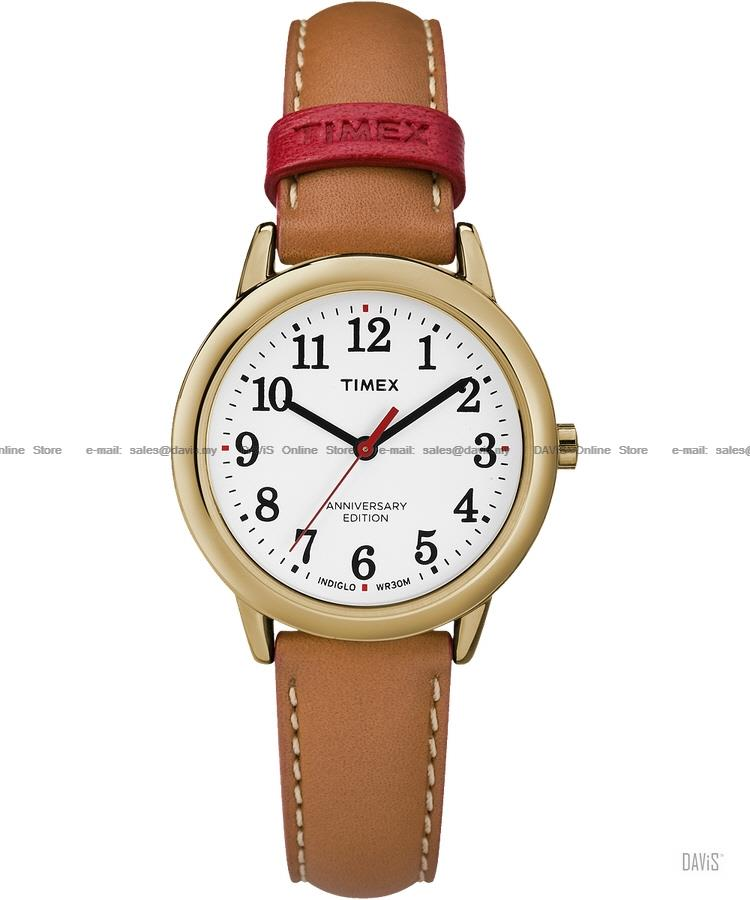 TIMEX TW2R40300 (W) Easy Reader 40th Anniv leather strap tan SE