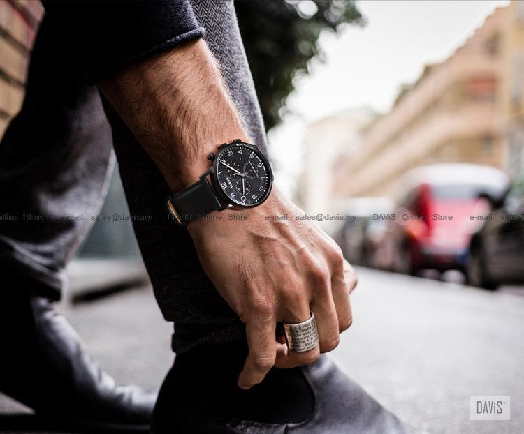 86aa241d8 TIMEX TW2R71800 (M) Waterbury Classic Chronograph leather strap black