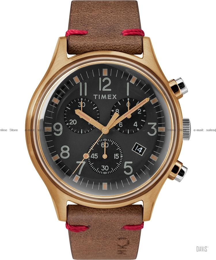 TIMEX TW2R96300 (M) MK1 Steel Chronograph leather strap brown