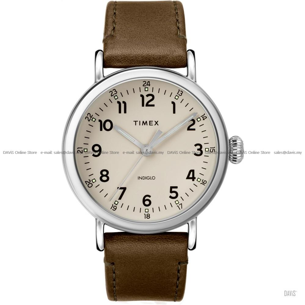 TIMEX TW2T20100 (M) Standard 40mm 24-hr Interchangeable Leather Brown