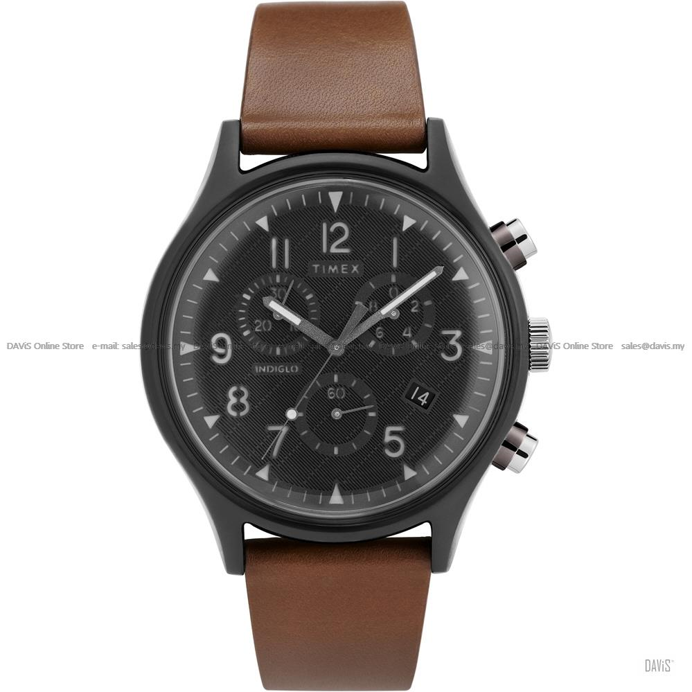 TIMEX TW2T29600 (M) MK1 Supernova Chronograph Leather Strap Brown