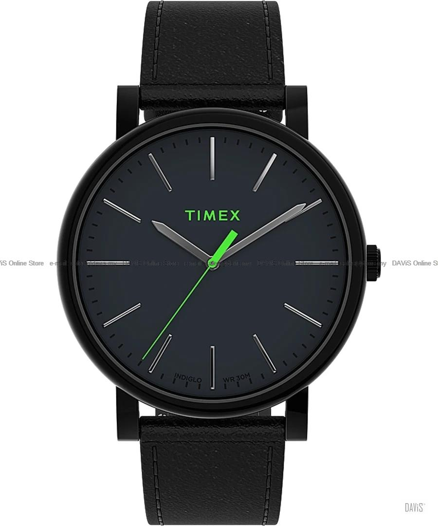 TIMEX TW2U05700 (M) Originals 42mm Leather Strap Black