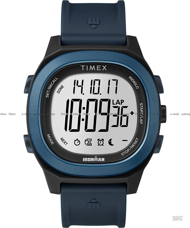 TIMEX TW5M19200 (M) IRONMAN Transit digital resin strap blue