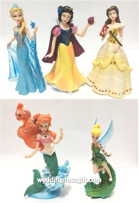 Tinker Bell, Princess Elsa, Snow White, Belle, Ariel Toy Figures - CCT