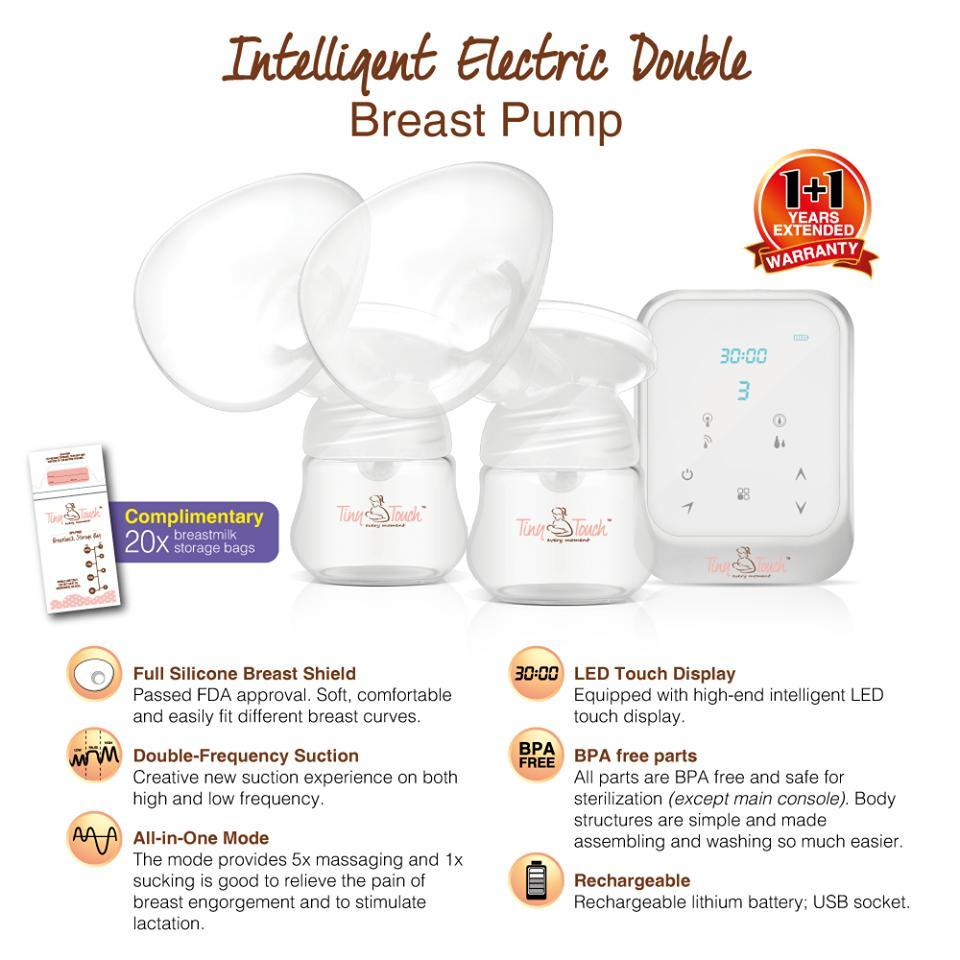 Tiny Touch Intelligent Double Electric Breast Pump with FREE GIFT
