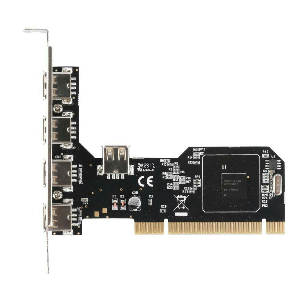 TINYTECH DESKTOP / PC PCI 4+1 USB 2.0 PORT CONTROLLER CARD