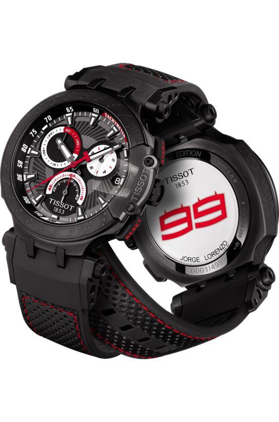 detalles para sitio web profesional nuevo producto TISSOT T115.417.37.061.01 T-RACE MotoGP 2018 Jorge Lorenzo LE
