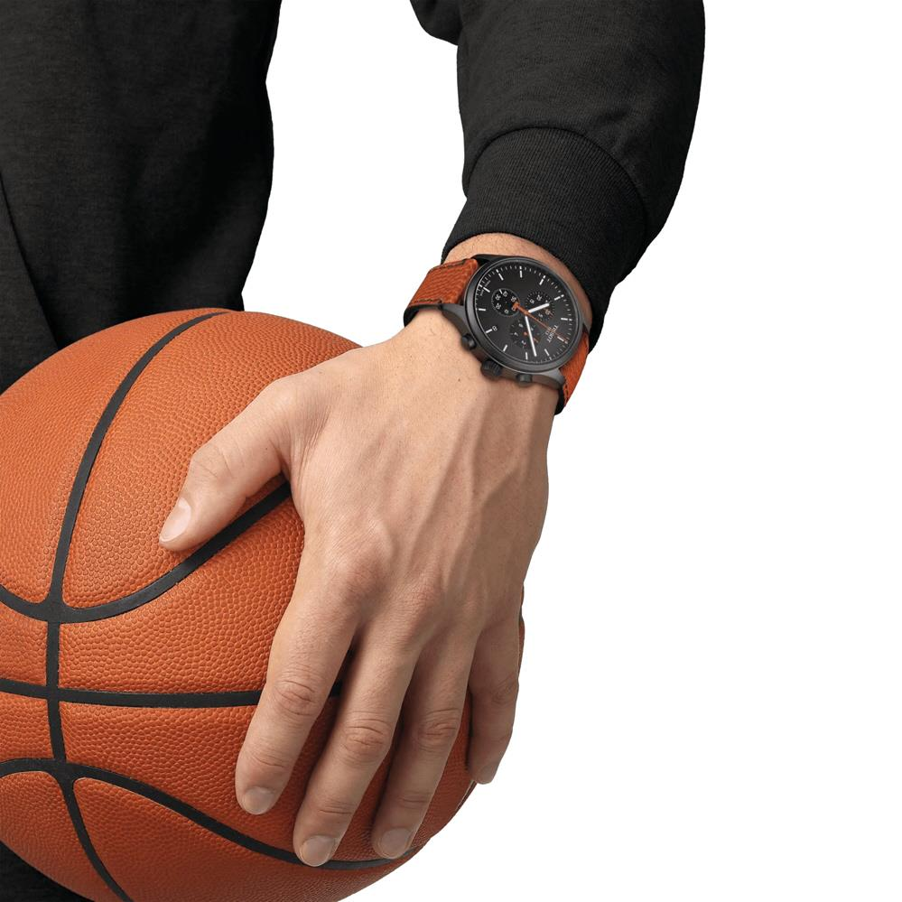 TISSOT T116.617.36.051.08 Chrono XL NBA Collector black orange SC