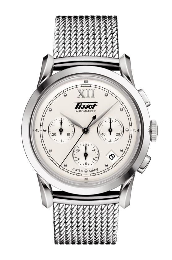 TISSOT T66.1.782.33 HERITAGE 1948 chronograph silver roman index