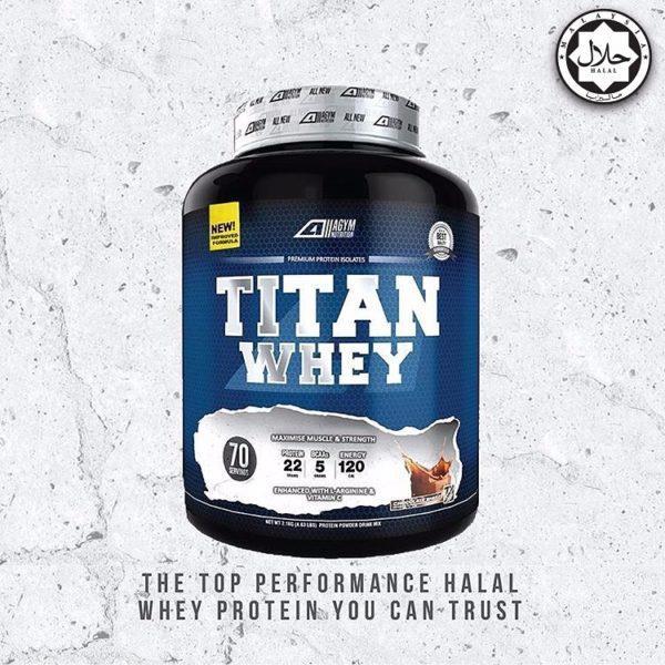 Titan Whey Isolate Halal 2 1kg(Choc) & Secret Weapon Pre Workout (USA)