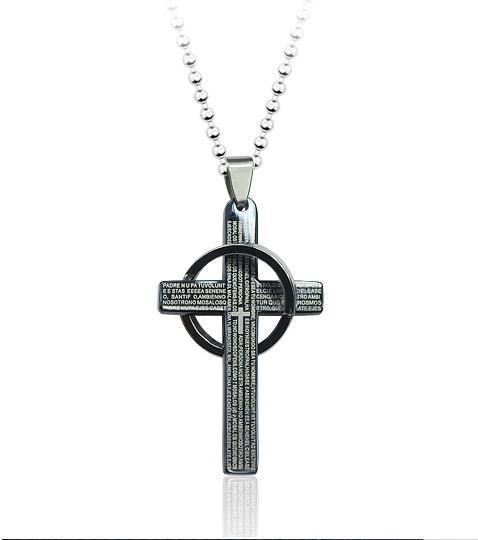 Titanium steel celtic cross pendant end 5292018 1136 am titanium steel celtic cross pendant necklace dark silver aloadofball Images