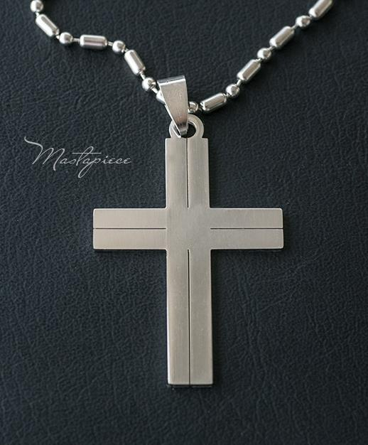 Titanium Steel Cross pendant necklace - S
