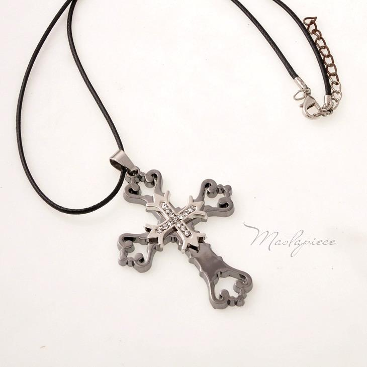 Titanium Steel Cross pendant necklace - TC1B