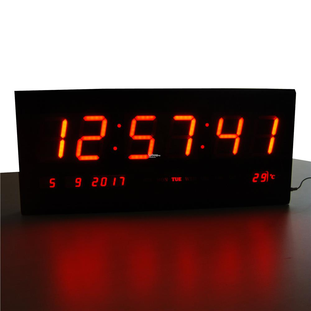 TL6830 Digital Led Clock Red