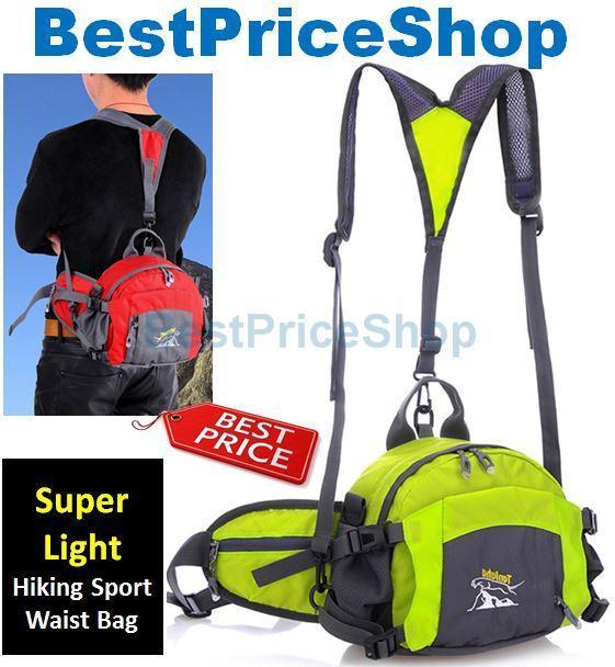 TLH-6012 Travel Hip Belt Shoulder Bag Hiking Sport Water Resistant Beg