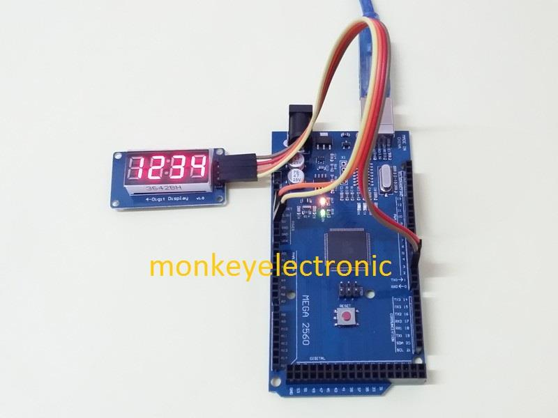 4 Bits TM1637 Digital Tube LED Clock Display Module