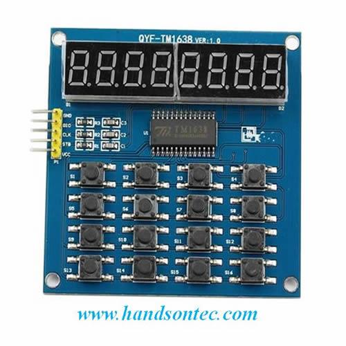 TM1638 8-Digit Display + 16-Key Module